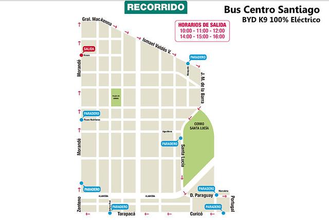 Recorrido Bus Centro Santiago