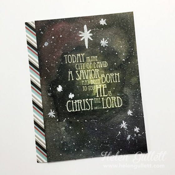 Mixed Media Christmas Card - Luke 2:11