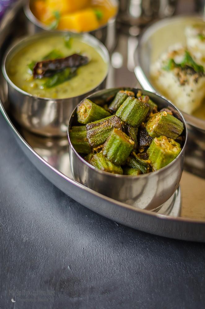 Gujarati Curry, Gujarati bhendi Curry, Gujarathi Okra Fry, Bhendy Fry, Okra Stir Fry,