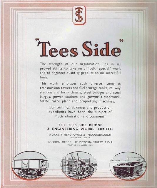 Teesside Bridge and Engineering, 1949 advert