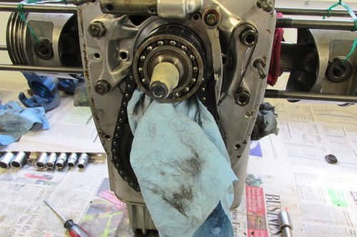 "Shop Towel ""Napkin"" to Keep Small Parts Out of Engine"