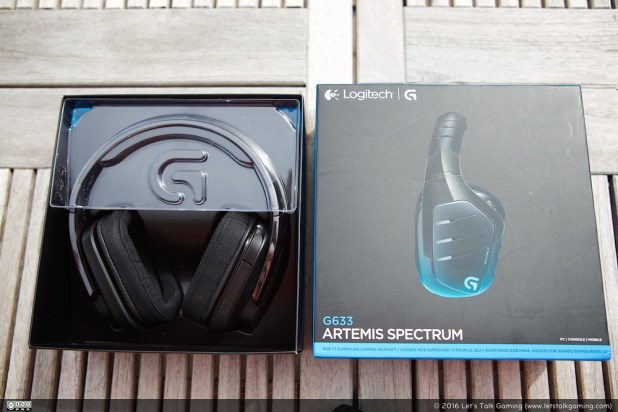 The unboxing experience for the Logitech G633 Artemis Spectrum is great!