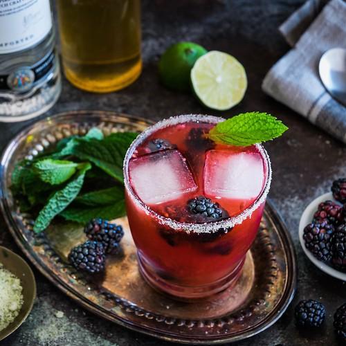 blackberry vanilla tequila mojito