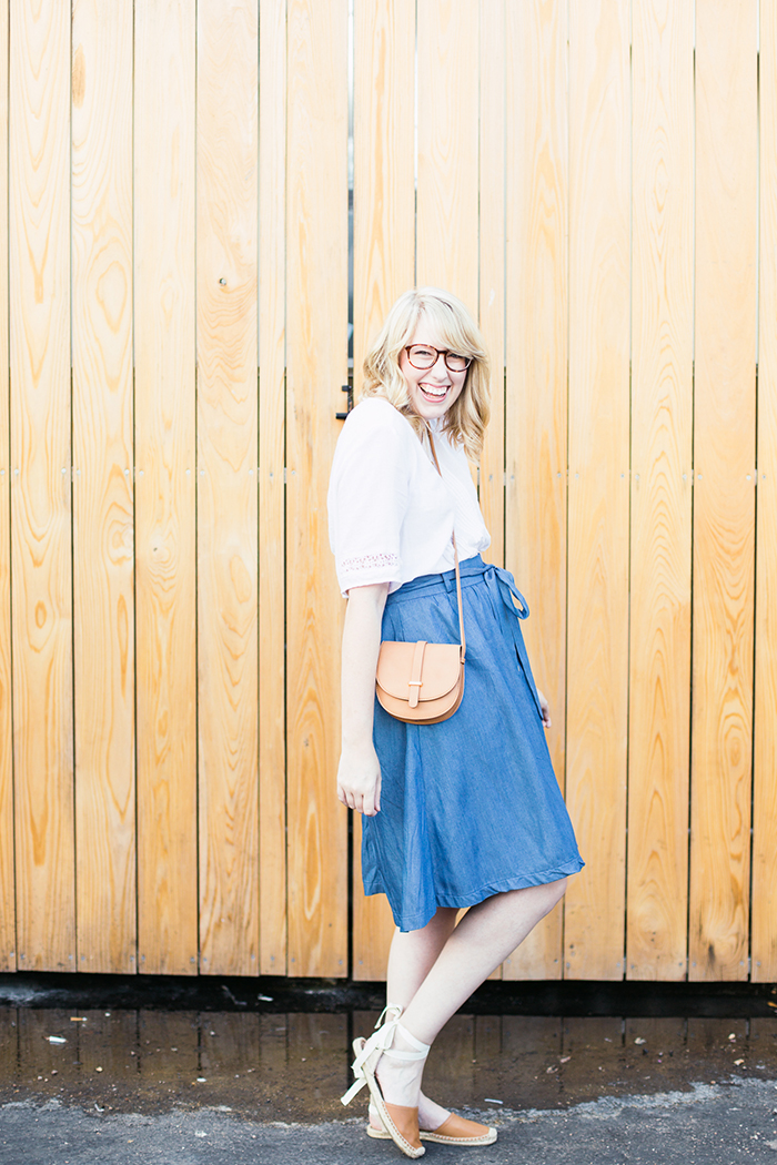 chambray skirt espadrille sandals3