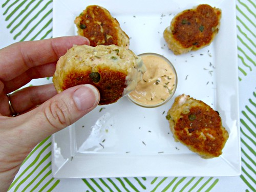 Salmon Croquettes with dipping sauce