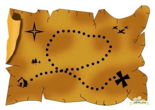 Mapa de viaje para niños. Imprimible