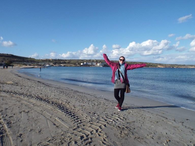 Mellieha Beach, Malta - the tea break project solo female travel blog