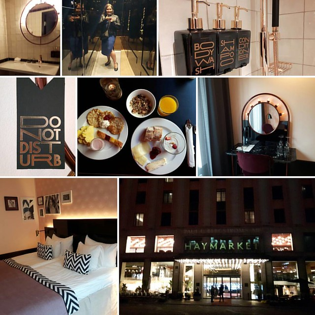 Staying at the amazing @haymarketbyscandic in lovely Stockholm