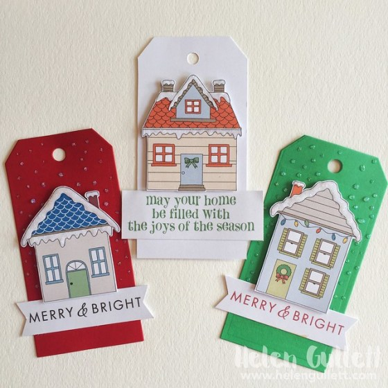 Hero Arts Holiday House Tags - a2z Scrapbooking