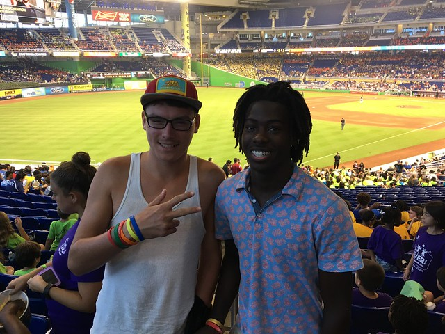 Inspirations for Youth and Families Teens at Marlins game