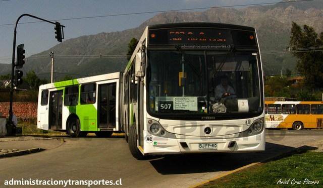 Transantiago 507 | Metbus | Caio Mondego HA - Mercedes Benz O500UA / BJFF60