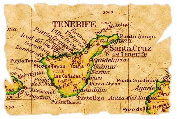 Mapa de Tenerife antiguo
