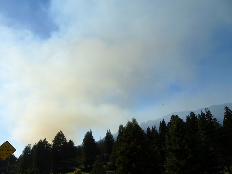 California forest fire, USA road trip - the tea break project solo travel blog