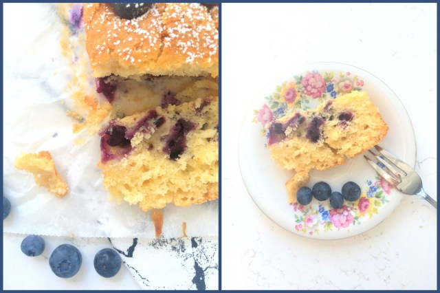 blueberry-yoghurt cake