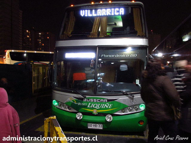 Buses Liquiñe | Terminal Sur (Santiago) | Busscar Panorâmico DD - Mercedes Benz / BDHB33