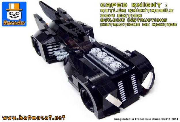 Superb Lego Rendition Of The Batman Arkham Asylum Batmobile The