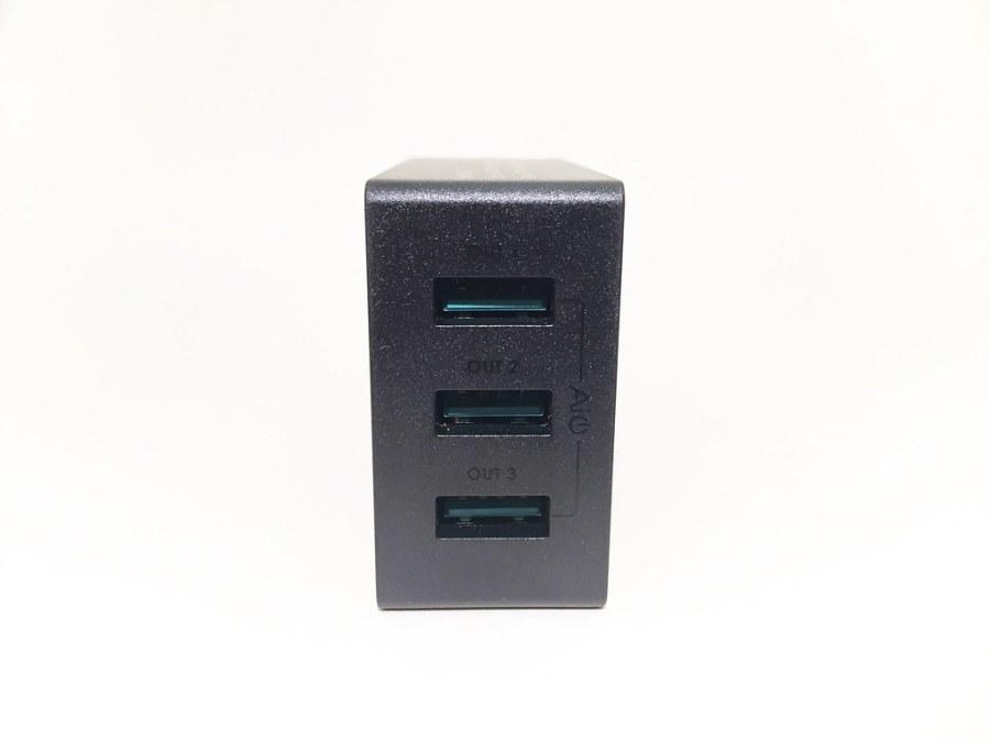 Chargeur AUKEY 3 USB PA-U35 face USB