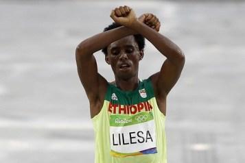 Frase do dia, do etíope Feyisa Lilesa, na Rio 2016
