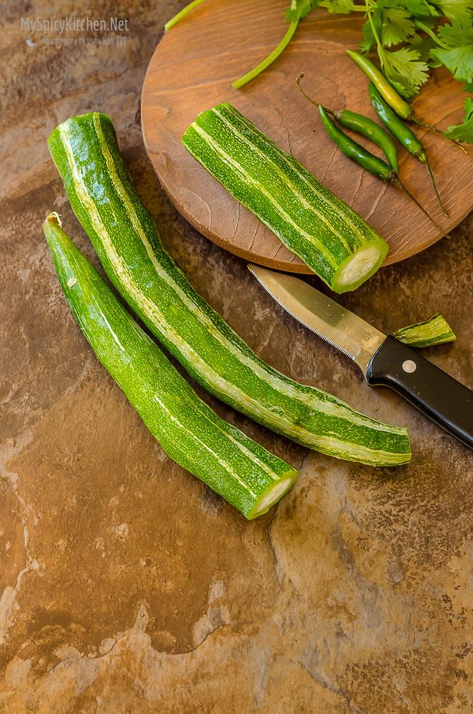 Potlakaya, Snake Gourd, Raw Ingredients, Still Life, Potlakaya Pachadi, Snake Gourd in Mustard Yogurt Sauce,