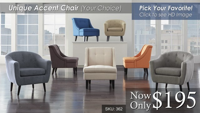Your Choice Accent Chairs 362-CHAIRS-GRP-C