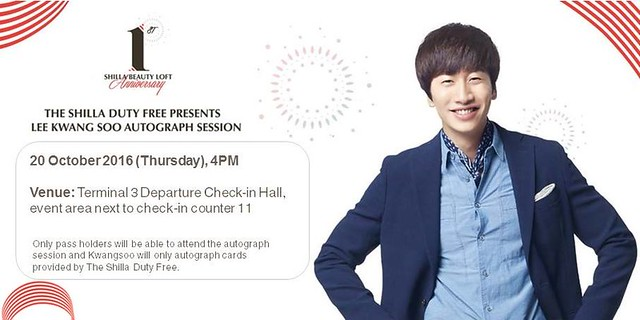 Lee Kwang Soo Autograph Session Details