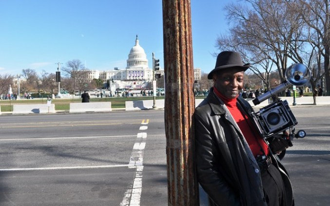 Man and His Camera in Front of Capitol Building,Day Before 57th Presidential Inauguration, Washington, D.C., Jan. 20, 2013
