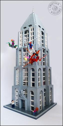 Spider-Man VS Green Goblin - Chryslor Building attack