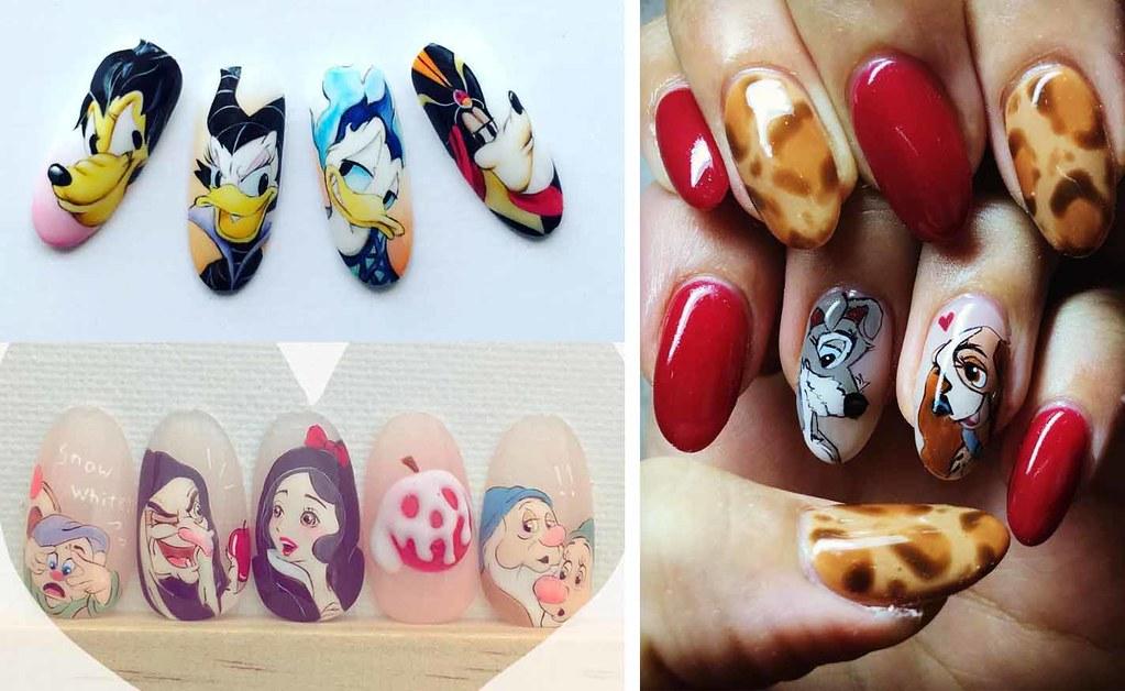 ♥ 充滿夢想的迪士尼!卡通手繪凝膠指甲 1