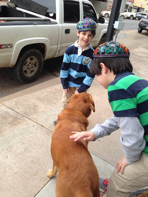 Boys with sweet dog from J.W. Hall in Helena AR