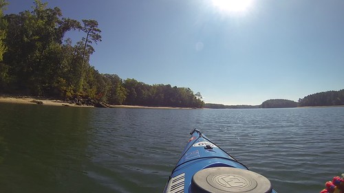 Paddling to Cemetery Island in Lake Hartwell-001