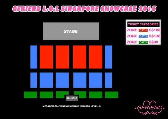 gfriend seating plan