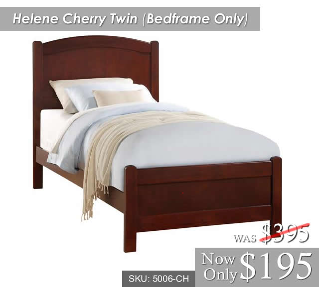 Helene Cherry Twin Bedframe Only 5006-CH[1]