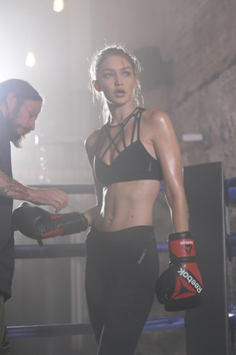 GIGI HADID JOINS FORCES WITH REEBOK