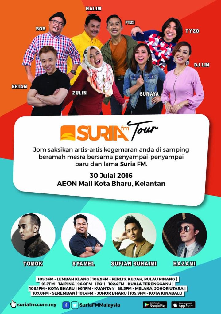 Siri Jelajah Suria FM Bermula di Kelantan