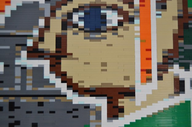 LEGO Mosaic: A Link Between Worlds (detail)