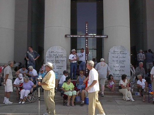 Ten Commandments Rally in Montgomery 2003