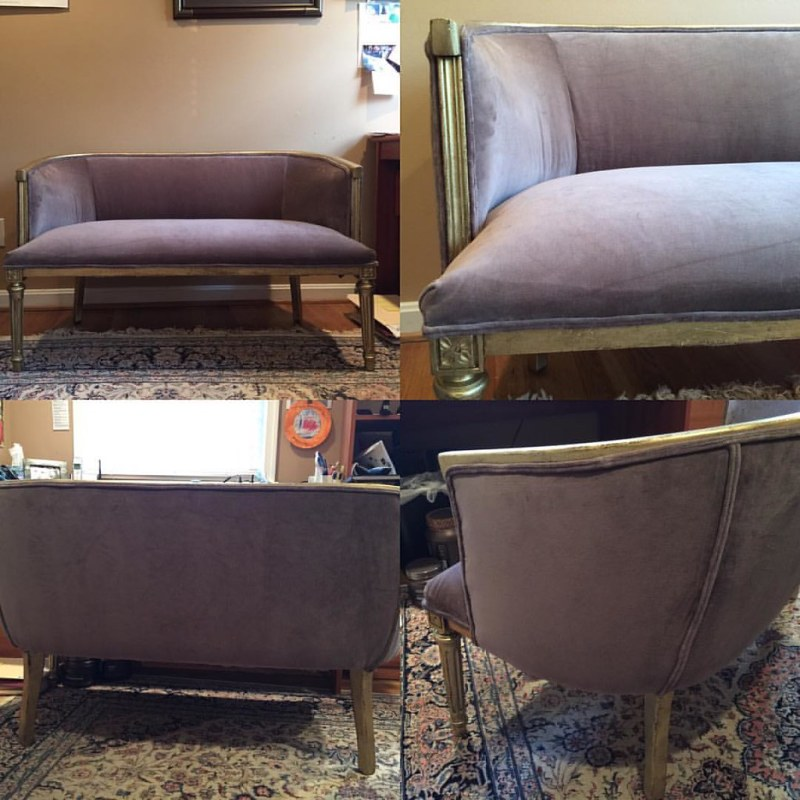 My latest renovation. #reupholstery #reuse #relove #sentimentalvalue #acreativedc #MadeinDC