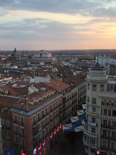 Atardecer en Plaza del Callao, Centro. Madrid
