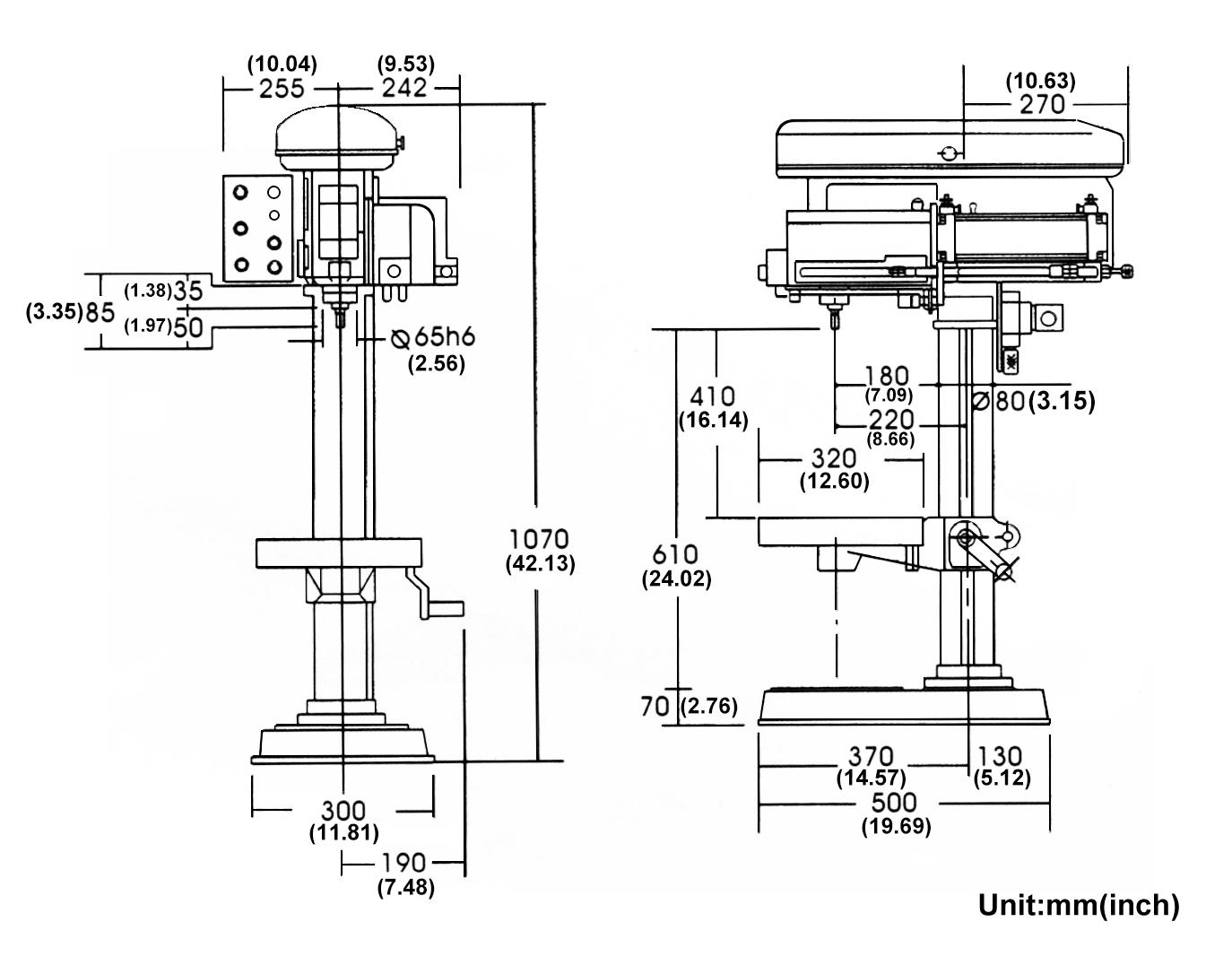 Drilling Machine Pneumatic HD-PAM520 for Yi Chang