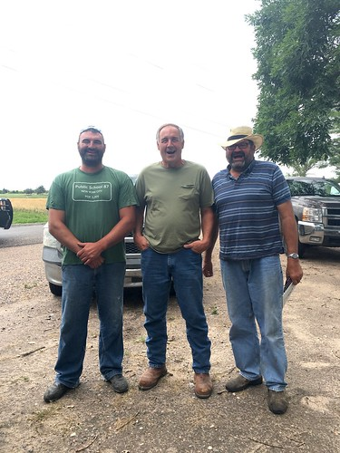 Some of our farmers from St. Francis! From left to right; Mitch, Randy and Spencer.