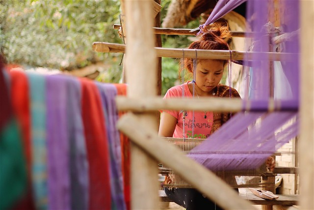 Lao Weaving Village
