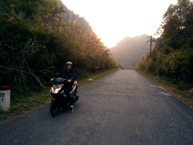 Briana On The Bike In Cat BA