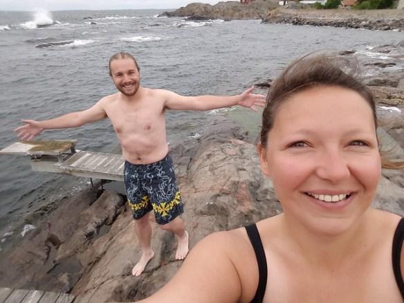 frisse duik in archipel