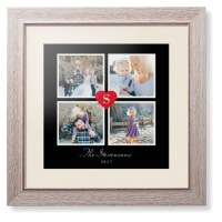 Heart Initial Collage Framed Print