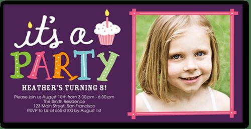 party cupcake teen birthday invitations shutterfly