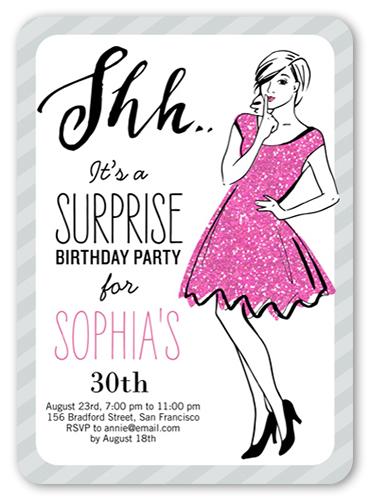 Shh Its A Surprise Birthday Invitation Shutterfly