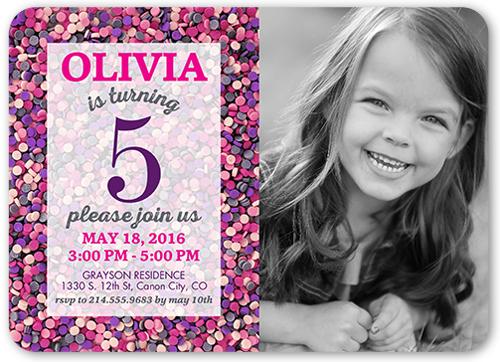 5th birthday invitation card for girl
