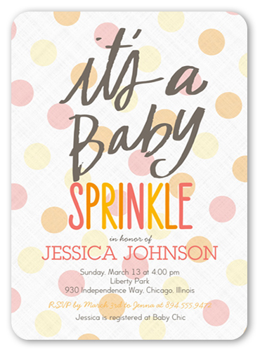 Baby Sprinkle Girl 5x7 Baby Shower Invitations  Shutterfly
