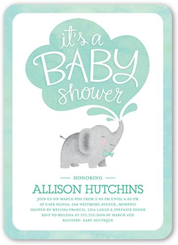 Little Elephant Boy 5x7 Custom Baby Shower Invitations