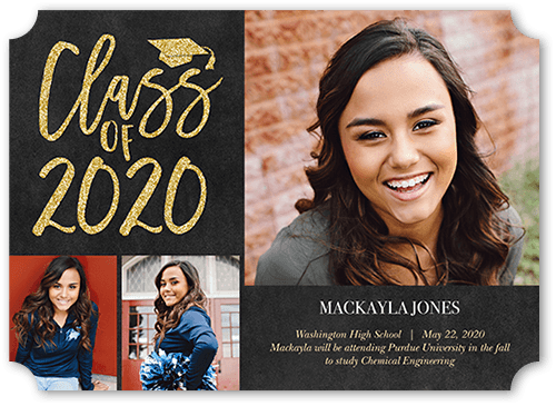 Time To Sparkle 5x7 Graduation Announcements Cards